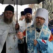 Митрополит Августин біля нашого храму очолив відкриття Стіни пам'яті та скорботи з іменами ветеранів-афганців, які загинули на Сході України